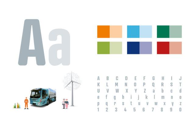 Stadtreinigung Hamburg Konzern- und Nachhaltigkeitsbericht 2017 Designelemente