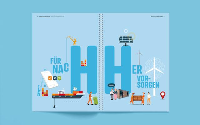 Stadtreinigung Hamburg Konzern- und Nachhaltigkeitsbericht 2017 Innenseite Trenner