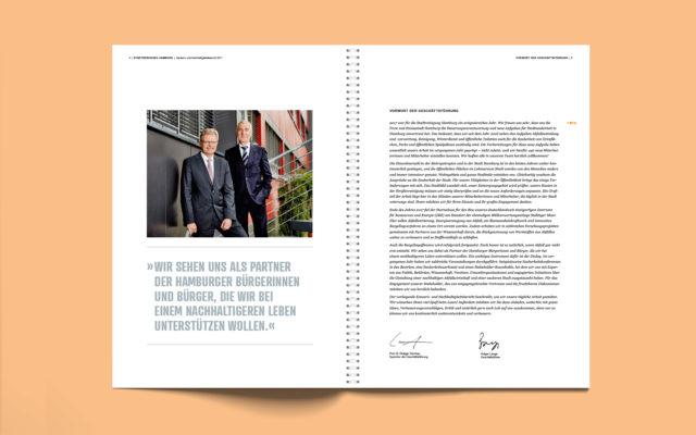 Stadtreinigung Hamburg Konzern- und Nachhaltigkeitsbericht 2017 Innenseite Vorwort