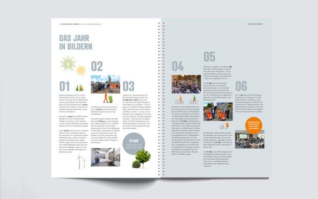 Stadtreinigung Hamburg Konzern- und Nachhaltigkeitsbericht 2017 Innenseite Jahresübersicht