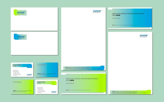 GGEW Corporate Design Geschäftsausstattung