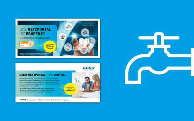 GGEW Corporate Design Flyergestaltung und Icon
