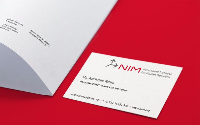 NIM Corporate Design Geschäftsausstattung Visitenkarte