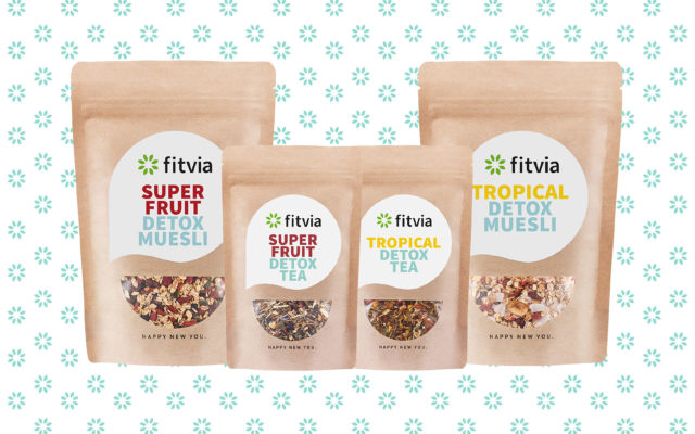 Fitvia Corporate Design Teaverpackungen