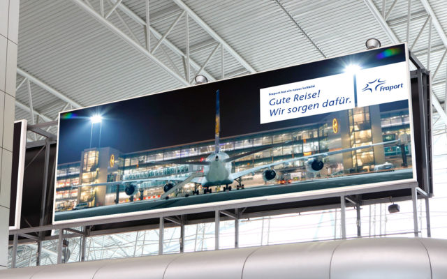 FRAPORT Corporate Design Plakat Anzeigetafel