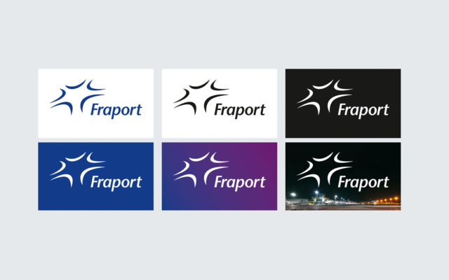 FRAPORT Corporate Design Logoeinsatz