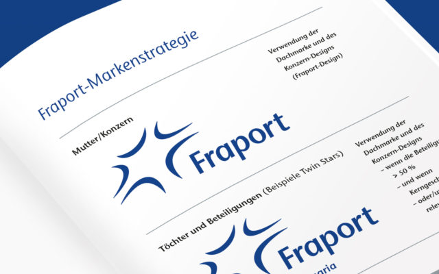 FRAPORT Corporate Design Einsatz Marken