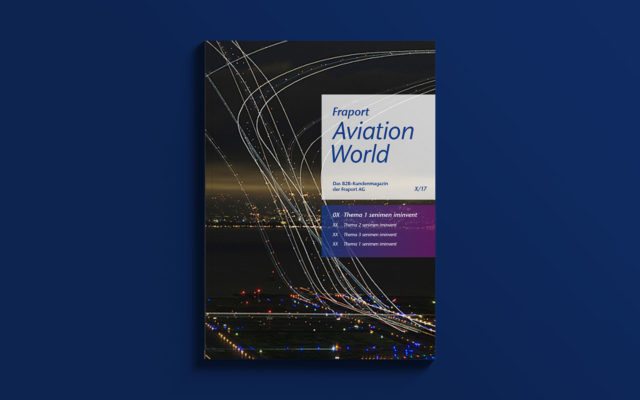 FRAPORT Corporate Design Kundenmagazintitel