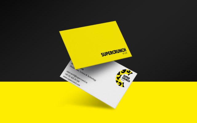 GfK Supercrunch Corporate Design Geschäftsausstattung Visitenkarten