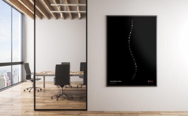 König + Neurath Key Visual Kampagnenposter Röntgenmotiv