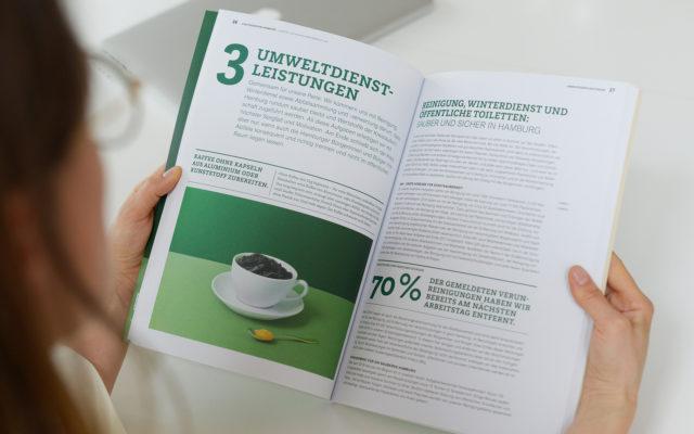 Stadtreinigung Hamburg Konzern- und Nachhaltigkeitsbericht 2018 Innenseite Umweltdienstleistungen