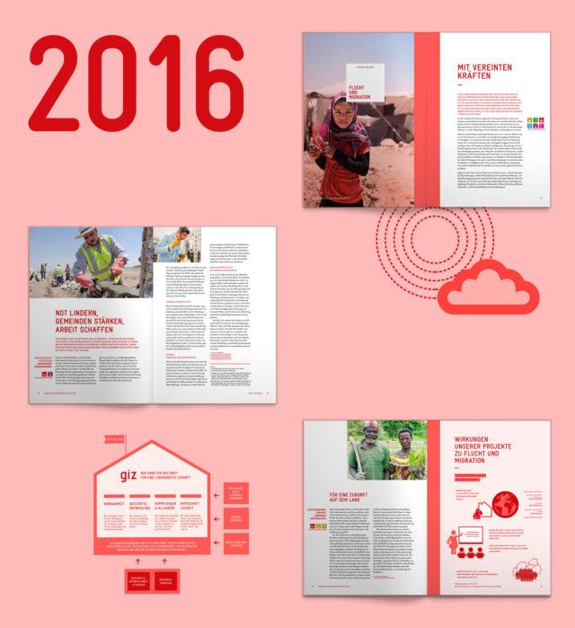 GIZ Unternehmensbericht Übersicht Innenseiten