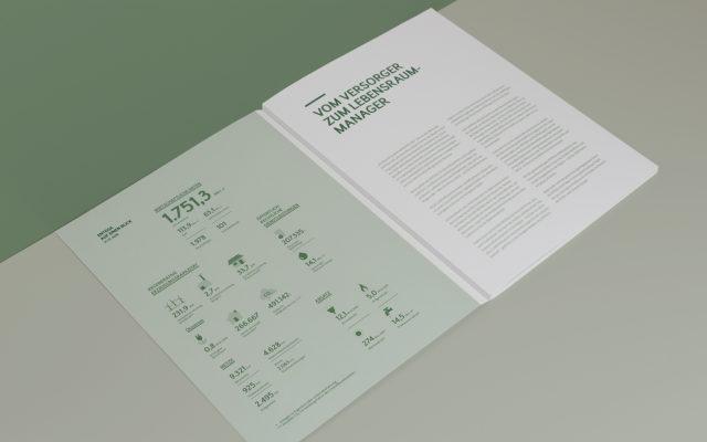 ENTEGA Geschäftsbericht Innenseite Zahlenübersicht