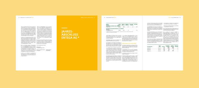 ENTEGA Geschäftsbericht Innenseitenübersicht