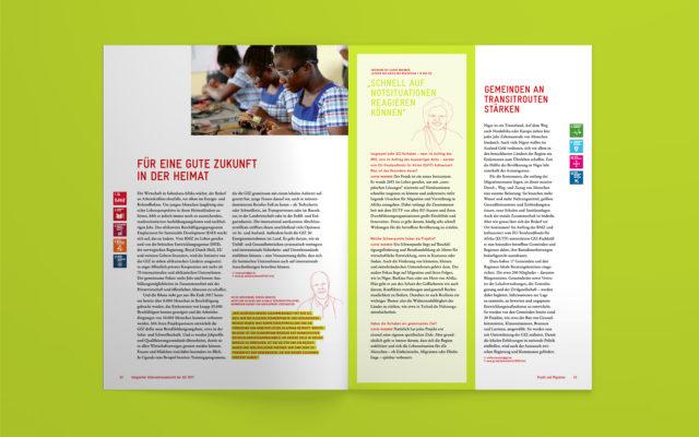 GIZ Integrierter Unternehmensbericht 2017 Innenseiten