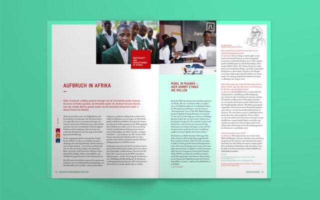GIZ Integrierter Unternehmensbericht 2018 Innenseiten
