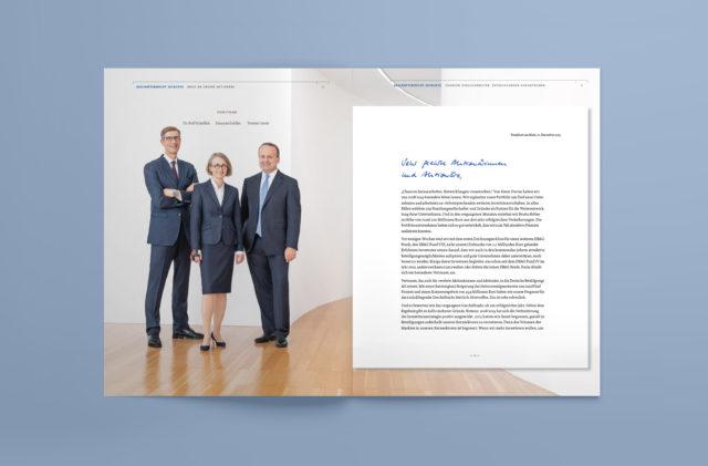 DBAG Geschäftsbericht Innenseite Vorwort