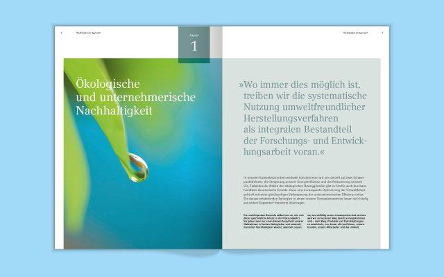 Eppendorf Nachhaltigkeitsbericht Doppelseite innen