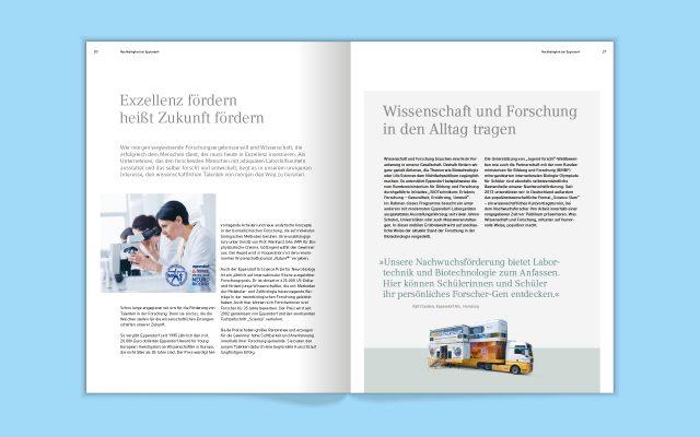 Eppendorf Nachhaltigkeitsbericht Innenseiten